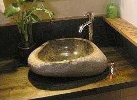 石头洗脸盆