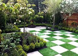 方格庭院地面