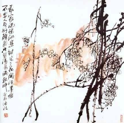 我家洗砚池边树,朵朵花开淡墨痕