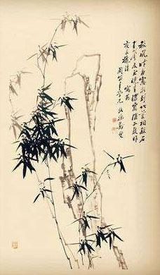 秋风昨夜窗前到, 竹叶相敲石有声