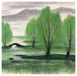 西湖(柳林春色)